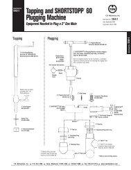 SHORTSTOPP® 60 2 Inch Data Sheet - T.D. Williamson, Inc.