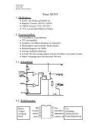 Timer NE555 1. Definition: 2. Eigenschaften: 3.1 ... - Projektlabor