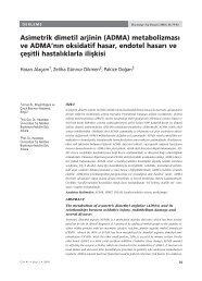 asımetrık dımetıl arjının (adma) - Hacettepe Üniversitesi Tıp Fakültesi