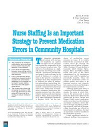 Nurse Staffing Is an Important Strategy to Prevent Medication Errors ...
