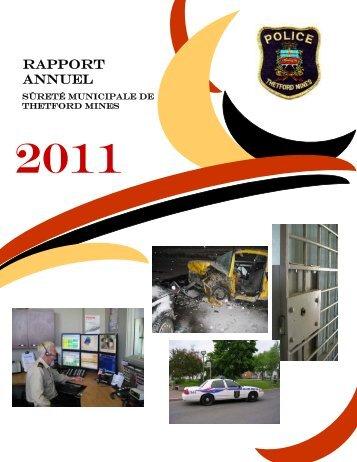Consultez le rapport annuel 2011 - Ville de Thetford Mines