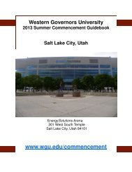 2013 Summer Commencement Guidebook - WGU Alumni Community