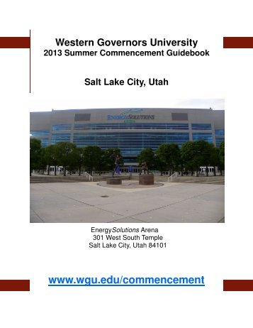 2013 Summer Commencement Guidebook - WGU Alumni Community