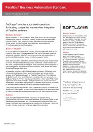 SoftLayer CSS A4 - Parallels