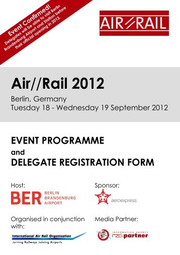 Registration Form - Data Interchange for Air-Rail Managers