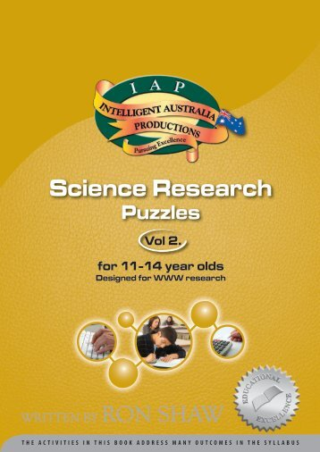 Science Research Puzzles (2) - Australian Teacher