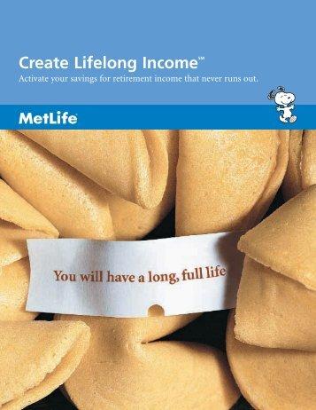 Create Lifelong IncomeSM - For Business