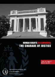 Report: Human Rights in Cambodia: The Charade of Justice - Licadho