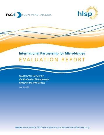 IPM Evaluation Report - International Partnership For Microbicides