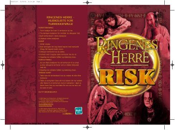 RINGENES HERRE - HUSKELISTE FOR TURREKKEFØLGE - Hasbro