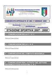 COMUNICATO n.25 del 17/01/2008 - FIGC