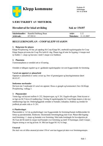 Klepp kommune - politikk
