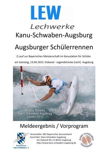 Kanu-Schwaben-Augsburg Augsburger Schülerrennen