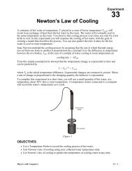 33 Newton's Law of Cooling - Mosinee School District