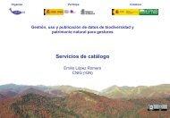 Servicios de catálogo - Gbif.es