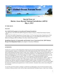 Special Issue on Marine Areas Beyond National Jurisdiction (ABNJ ...
