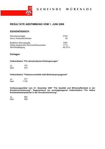 2008 - 1. Juni - Gemeinde Würenlos
