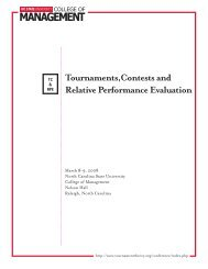 Tournaments,Contests and Relative Performance Evaluation