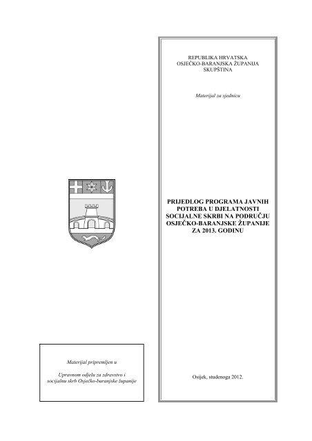 prijedlog programa javnih potreba u djelatnosti socijalne skrbi na ...
