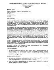 2010-2011 Management Report - Windsor-Essex Catholic District ...