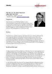 Prof. Dr. rer. pol. Peter Niermann MBA, Dipl.-Ing. (FH) - University of ...
