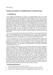 Serbien nach Milošević: Stabilitätsfaktor in Südosteuropa?