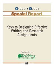 Keys to Designing Effective Writing and Research Assignments