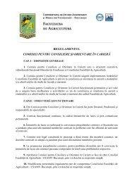 Regulament Comisie pentru Consiliere şi Orientare în Carieră