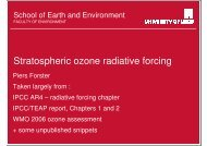 Piers Forster - UK Stratospheric Ozone and UV Measurements