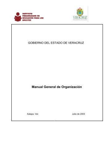Manual Org IVEA - Gobierno del Estado de Veracruz