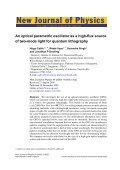An optical parametric oscillator as a high-flux source of two-mode ... - Page 2