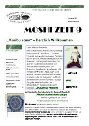 MOSHI ZEIT 9 - Evangelische Kirchengemeinde Idstein