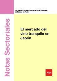 El mercado del vino tranquilo en Japón