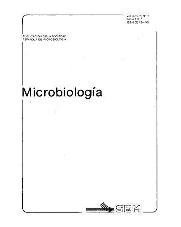 Vol. 3 núm. 2 - Sociedad Española de Microbiología