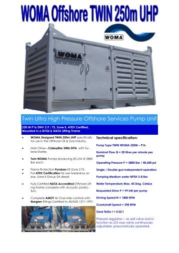 Offshore Twin 250M Unit brochure - Woma