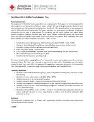 Fact Sheet: First Aid for Youth Lesson Plan - Instructor's Corner