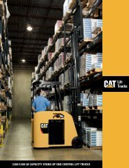 3,000-5,500 lb CapaCity Stand-Up End Control lift trUCkS