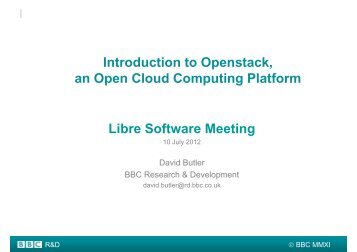 Introduction to Openstack, an Open Cloud Computing Platform Libre ...