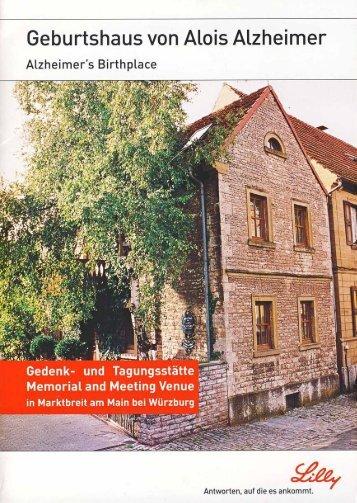Geburtshaus von Dr. Alois Alzheimer - Stadt Marktbreit am Main