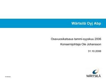 Wärtsilä Oyj Abp