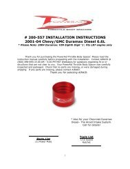 # 200-557 INSTALLATION INSTRUCTIONS 2001-04 Chevy ... - Airaid