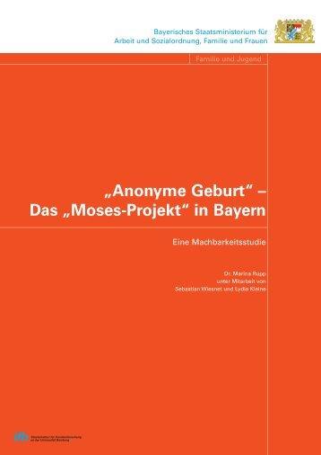 """Moses-Projekt"". - ifb - Bayern"