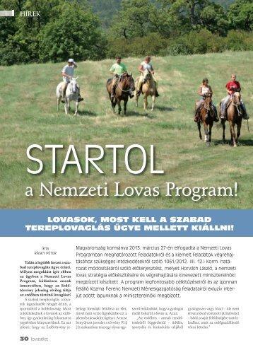 Startol a Nemzeti Lovas Program