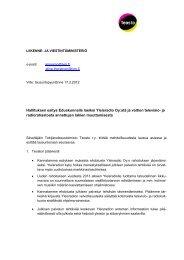 Teosto ry:n lausunto - Liikenne- ja viestintäministeriö