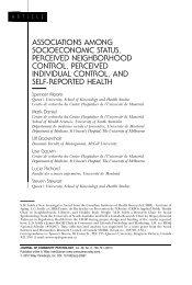 Associations among socioeconomic status, perceived neighborhood ...