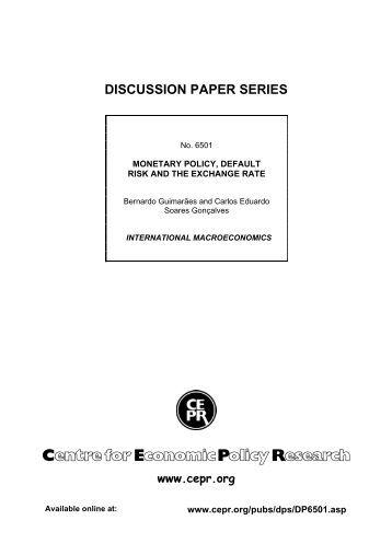 DISCUSSION PAPER SERIES - Departamento de Economia