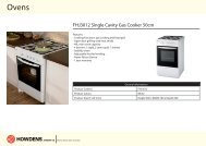 FHJ3012 Single Cavity Gas Cooker 50cm