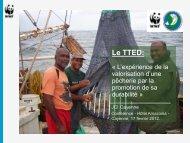 présentation du WWF Guyane sur l'expérimentation du TTED