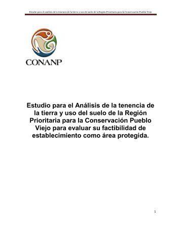 Estudio para el análisis de la tenencia de la tierra y uso de ... - Conanp