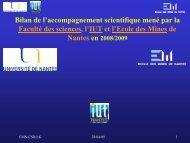 Centre de Ressources en Physique Expérimentale - Ecole des ...